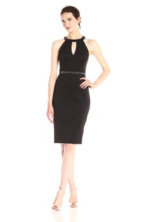 GUESS Women's Scuba Cocktail Dress with Bead Detail