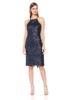 GUESS Women's Sequin Midi Cocktail Dress