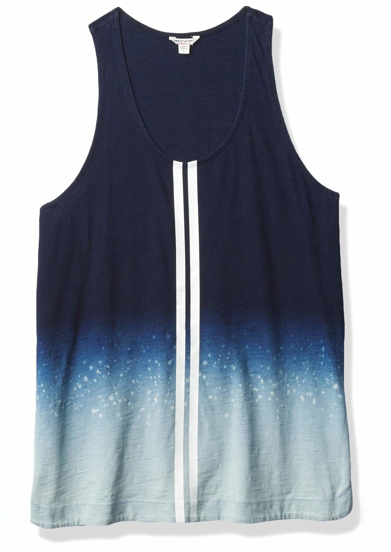 GUESS Women's Serena Tank Indigo Ombre with Splatters L