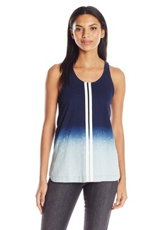 GUESS Women's Serena Tank Indigo Ombre with Splatters S