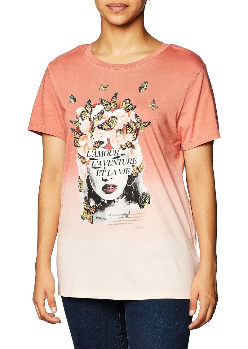 GUESS Women's Short Sleeve Amour Easy Tee