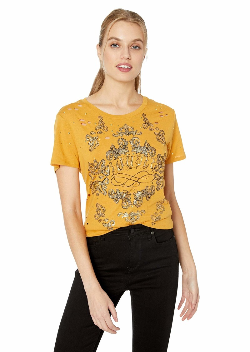 GUESS Women's Short Sleeve Boujee Easy T-Shirt  S