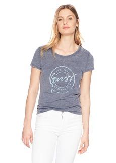 Guess Women's Short Sleeve Crew Neck Stamp Tee Shirt  XL