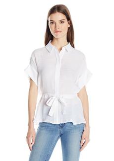 GUESS Women's Short Sleeve Gracie Kimono Shirt True White A A M