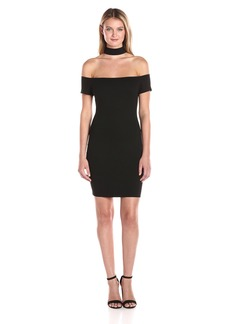 Guess Women's Short Sleeve Jytte Choker Dress  L
