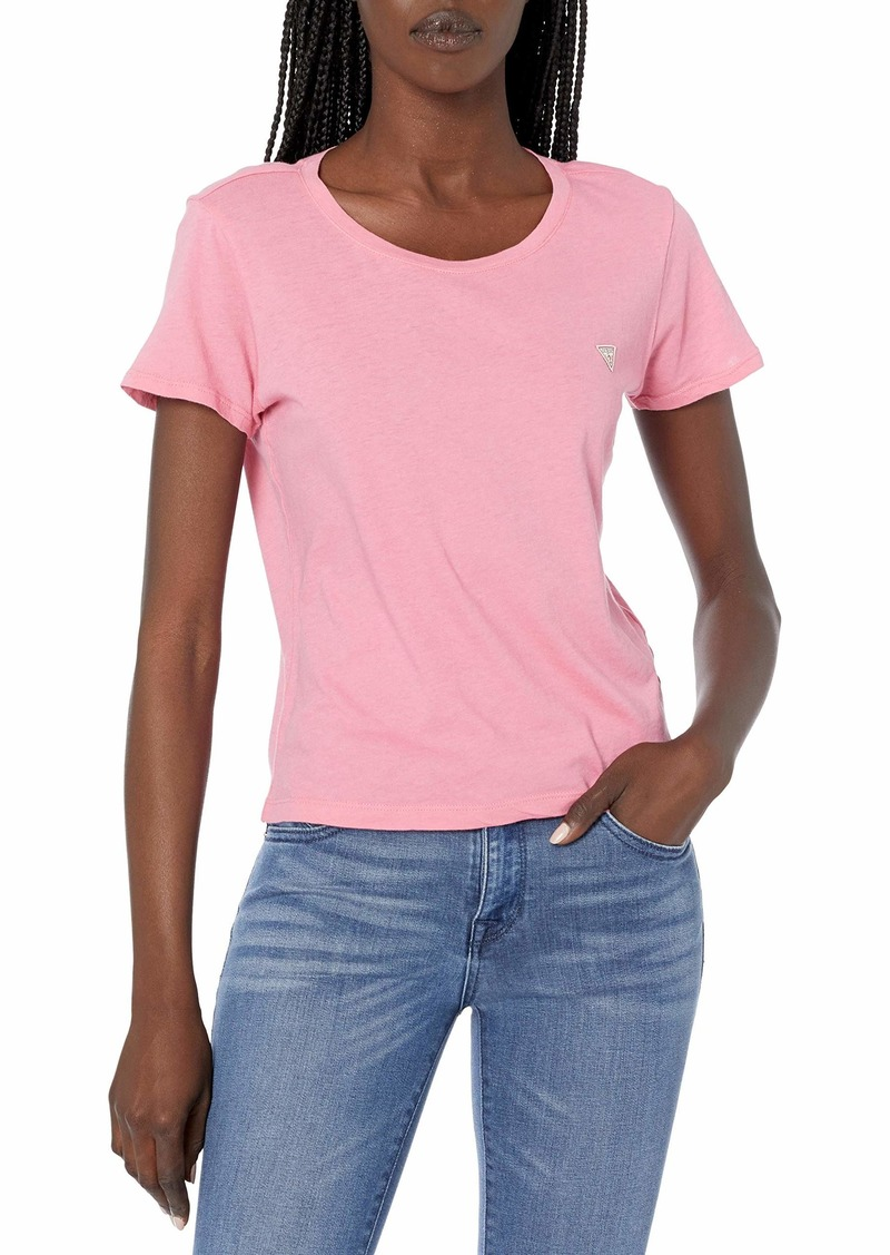 GUESS Women's Short Sleeve Logo Baby Tee  Extra Large