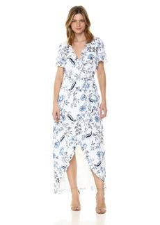 GUESS Women's Short Sleeve Nicolle Wrap Dress  L