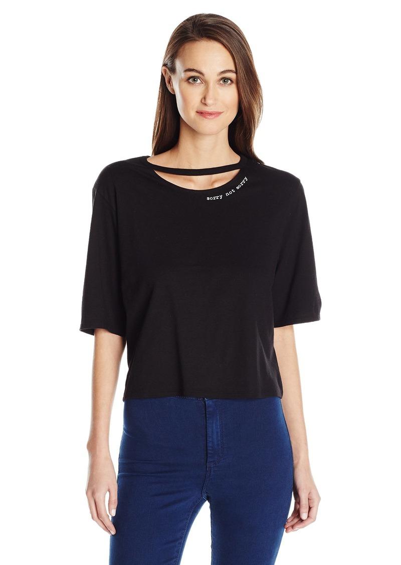 GUESS Women's Short Sleeve Sorry T-Shirt Jet Black A A XL