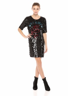 GUESS Women's Short Sleeve Untamed Sequin Dress  a S