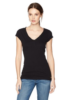 GUESS Women's Short Sleeve V Neck TEE Shirt  M