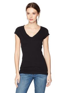 GUESS Women's Short Sleeve V Neck TEE Shirt  M