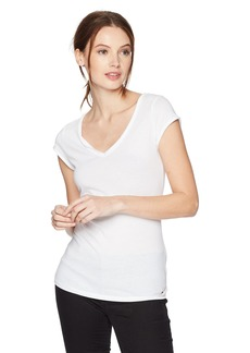 GUESS Women's Short Sleeve V Neck TEE Shirt  XS