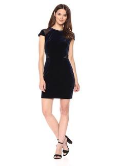 GUESS Women's Short Sleeve Velvet Dress