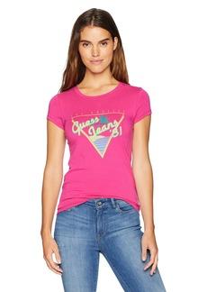 Guess Women's Short Sleeve Vintage Beach T-shirt Shirt -berry tango XS