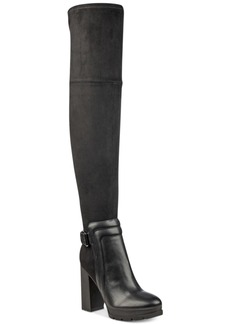 Guess Women's Sleek Over-The-Knee Lug Boots Women's Shoes