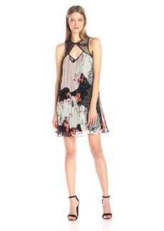 Guess Women's Sleeveless Abril Pleated Trapeze Dress  L