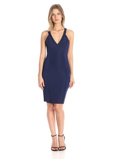 Guess Women's Sleeveless Agna Bonded Ottoman Dress