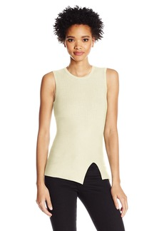 Guess Women's Sleeveless Alexis Ribbed Mix Top  L