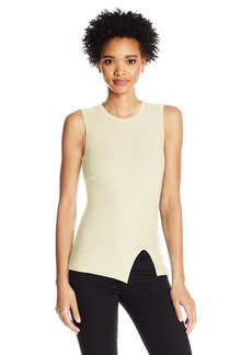 GUESS Women's Sleeveless Alexis Ribbed Mix Top  XS