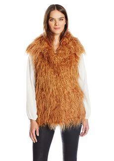 GUESS Women's Sleeveless Arianna Faux Fur Vest  L