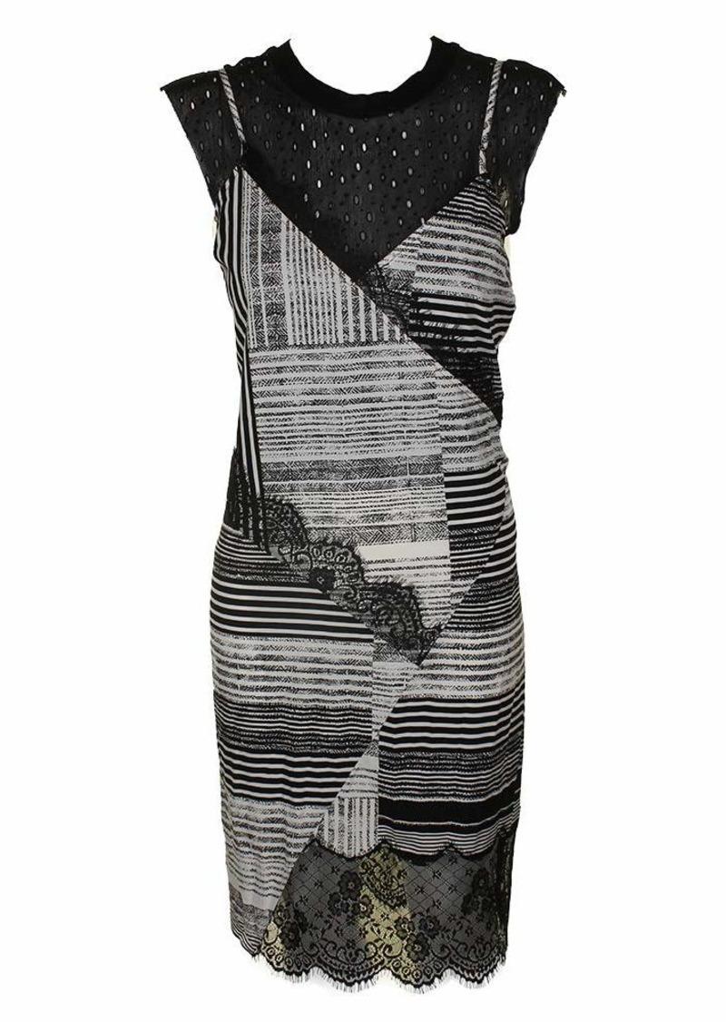 GUESS Women's Sleeveless Aziz Slip Dress with Attached Shirt  L