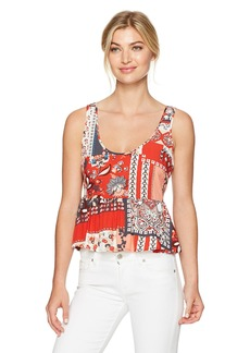 GUESS Women's Sleeveless Bella Peplum Top  M