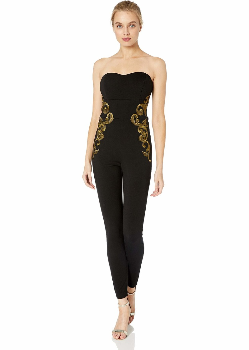 GUESS Women's Sleeveless Bianca Embroidered Jumpsuit  XL