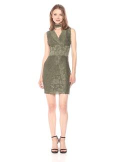 GUESS Women's Sleeveless Blanca Lace Galloon Dress  L