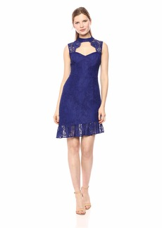 GUESS Women's Sleeveless Brandie Dress Blue iris Multi