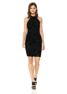 GUESS Women's Sleeveless Chela Burnout Velvet Dress  L