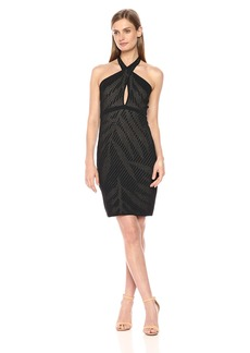GUESS Women's Sleeveless Ciara Crossfront Palm Dress  S