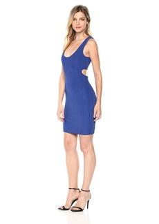 Guess Women's Sleeveless Coco Ribbed Dress Dress -blue soul L