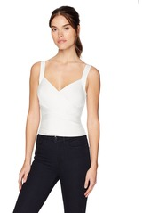 Guess Women's Sleeveless Cropped Mirage Crossover TOP  XS
