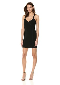 GUESS Women's Sleeveless Crossover Cutout Mirage Dress  XL