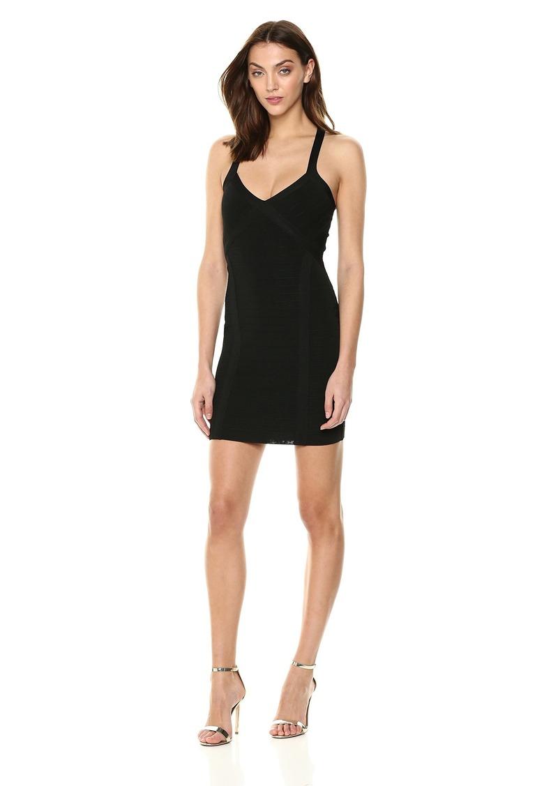 GUESS Women's Sleeveless Crossover Cutout Mirage Dress  XL