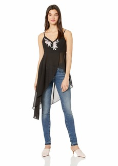 GUESS Women's Sleeveless Danielle Assymetrical Camisole  a S