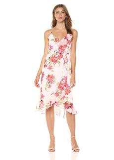 Guess Women's Sleeveless Daydream Dress Dress -blooming gingham violet print M