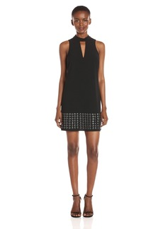 Guess Women's Sleeveless Deetra Studded a-Line Dress  L