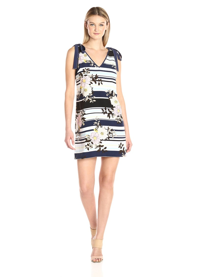 GUESS Women's Sleeveless Delta Bow Tie Dress  L
