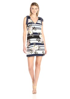 GUESS Women's Sleeveless Delta Bow Tie Dress  XS