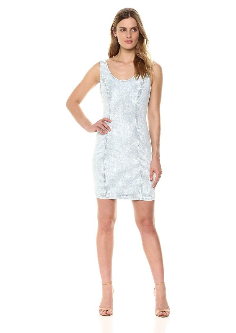 GUESS Women's Sleeveless Denim Dress Light wash XL