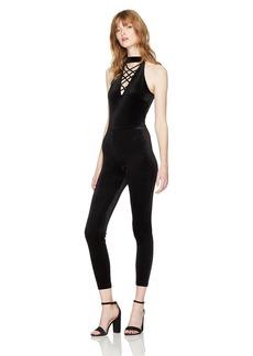 GUESS Women's Sleeveless Dorian Lace Up Jumpsuit  M