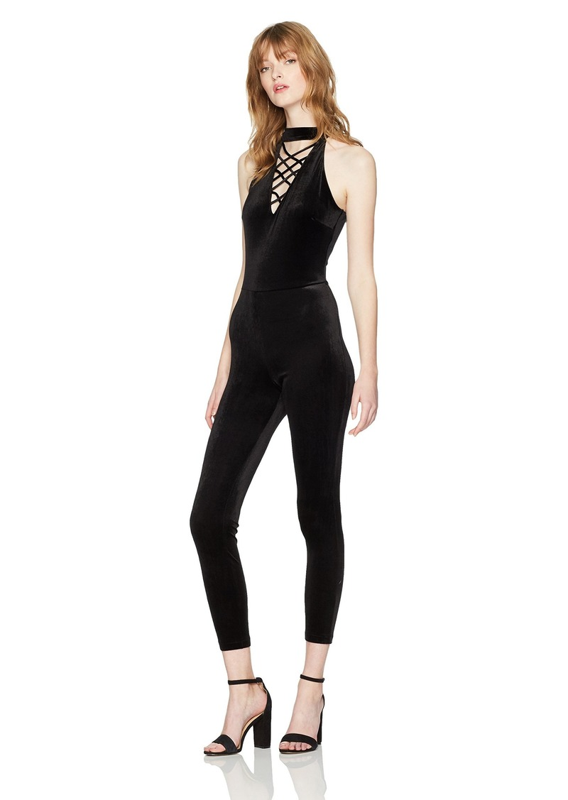 GUESS Women's Sleeveless Dorian Lace Up Jumpsuit  M