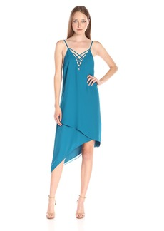 Guess Women's Sleeveless Ellia Strappy Asym Dress
