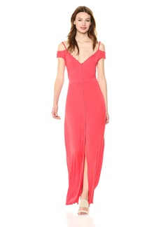 GUESS Women's Sleeveless Ensley Maxi Dress red Lava M