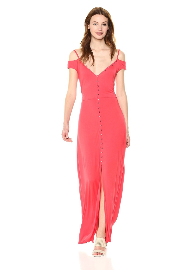 GUESS Women's Sleeveless Ensley Maxi Dress red Lava L