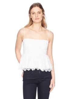 GUESS Women's Sleeveless Francine Peplum Top  XL