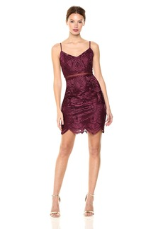 GUESS Women's Sleeveless Gianni Embroidery Dress New fig Multi