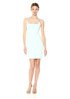 GUESS Women's Sleeveless Gillian Dress Soothing sea L