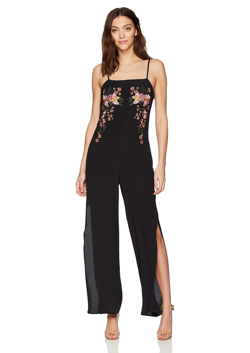 GUESS Women's Sleeveless Ibiza Embroidered Jumpsuit